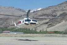 انتقال هوایی 3 مصدوم جاده کرج - چالوس به بیمارستان