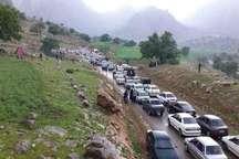 بازدید 50 هزار گردشگر از مناطق گردشگری سرفاریاب چرام در روز طبیعت