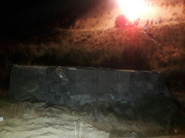 11 کشته در حادثه سقوط اتوبوس به دره جاجرود