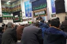 آیین سوگواری شهادت امام رضا(ع) در دفتر رهبرانقلاب درقم برگزار شد
