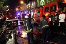 مهار آتشسوزی در یک ساختمان مسکونی در قزوین