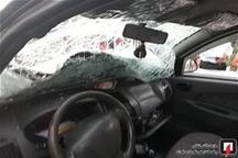 مصدومیت ۱۱ نفر در تصادف محور شهربابک-سیرجان