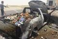 تصادف 2 خودرو در خراسان شمالی سبب آتش سوزی شد