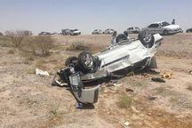 واژگونی یک سواری در آزادراه اصفهان- کاشان ۲ کشته برجا گذاشت