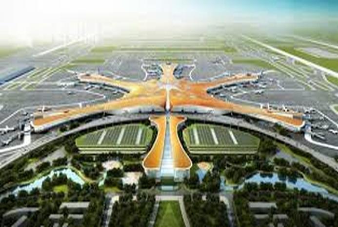 ساخت بزرگترین فرودگاه جهان در چین/ فیلم