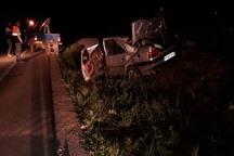 تصادف در جاده شوشتر-ملاثانی یک کشته و پنج مصدوم برجا گذاشت