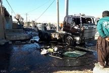 تصادف ۶ خودرو در جاده پلدختر-اندیمشک موجب آلودگی محیط زیست شد
