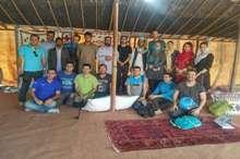 نخستین تور گردشگری از استان قزوین وارد اقامتگاه بوم گردی تفتان شد
