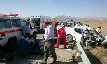 41 نفر در سوانح رانندگی نطنز مصدوم شدند