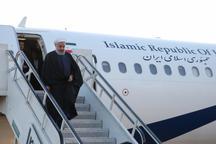 روحانی وارد استان مازندران شد