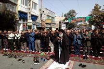 عزاداران حسینی در ورامین نماز ظهر عاشورا را اقامه کردند