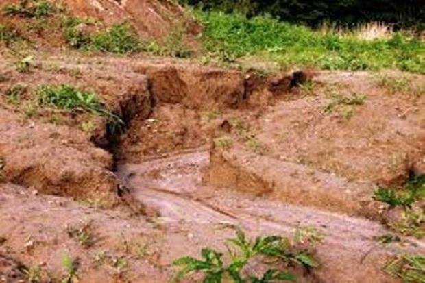 فرسایش آبی بر 10 درصد از بیابان های گچساران تاثیر می گذارد