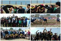 ساری قهرمان رقابت های کبدی ساحلی باشگاه های کشور شد