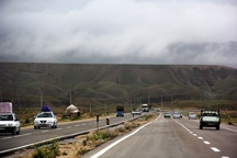 انسداد بخشی از آزادراه رشت - قزوین در منطقه منجیل