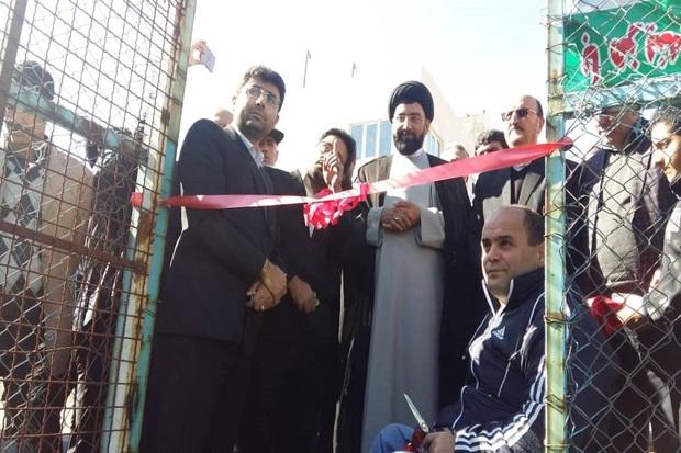 یک طرح ورزشی با حضور استاندار قزوین در آبیک افتتاح شد