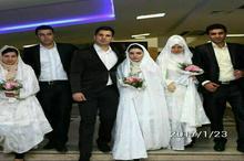 مراسم ازدواج همزمان ۳ آتش نشان شهید +عکس
