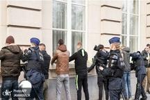 عکس/ عبور اعتراضات از مرزهای فرانسه به بلژیک