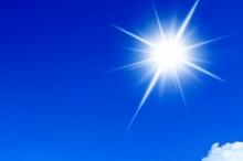 آسمان قزوین صاف و آفتابی است