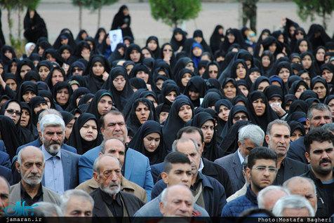 پیکر مطهر 2 شهید حادثه تروریستی چابهار تشییع شد