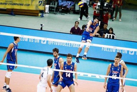 لانزا امتیاز آورترین بازیکن دیدار والیبال ایران و ایتالیا
