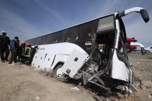 واژگونی اتوبوس در زنجان یک کشته و 31 مصدوم برجای گذاشت