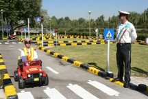 کودکان بوشهری فرهنگ ترافیکی را فرا گرفتند