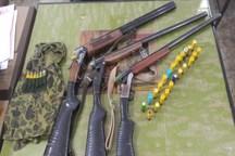 سه قبضه سلاح غیر مجاز توسط محیط بانان در آبیک کشف شد