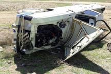 یک کشته و 2 مصدوم در اثر واژگونی خودرو در محور مهاباد - ارومیه