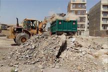 تولید نخالههای ساختمانی در حاشیه شهر زاهدان