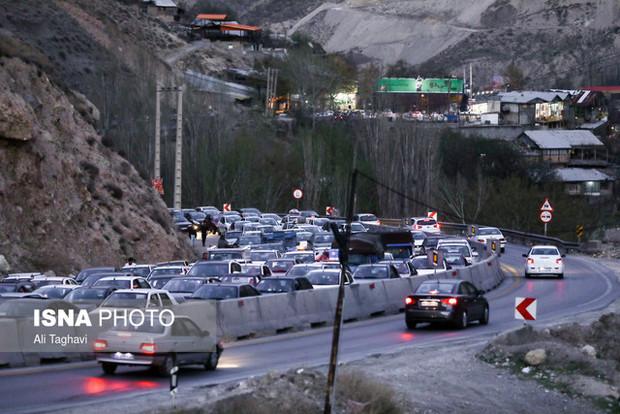 تردد جادهای استان روز چهارشنبه به اوج میرسد