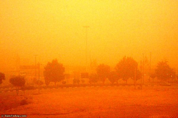 گردوغبار مهمان ناخوانده بوشهریها  خلیج فارس مواج میشود