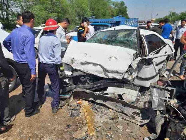 تصادف در شوشتر یک کشته و یک مصدوم برجا گذاشت