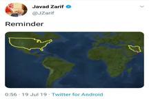 واکنش کنایه آمیز ظریف به اعلام خبر سرنگونی پهپاد ایران توسط ترامپ + عکس