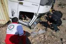 واژگونی تریلی در شرق خراسان رضوی یک مصدوم بر جای گذاشت