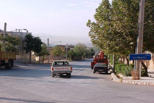 نام و نشان معابر شهر سمیرم ساماندهی میشود