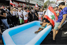 اعتراضات مردم لبنان و تصاویری که سوال برانگیز است