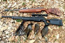شکارچی غیرمجاز در جیرفت دستگیر شد