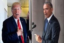 جنگ لطفی اوباما و ترامپ/ ورود اوباما به کارزار انتخاباتی/ ترامپ: سخنرانی اوباما برای خوابیدن خیلی خوب بود!