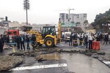 نشت لوله اصلی آب در پایتخت مهار شد