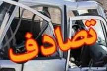 تصادف در آزاد راه کرج- قزوین 2 مصدوم برجای گذاشت