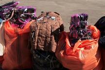 محموله البسه قاچاق و مواد محترقه در مراغه توقیف شد