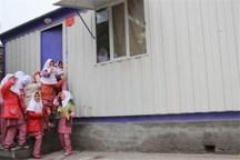 کانکس، جایگزین مدرسه 2 روستای سیل زده ایلام می شود