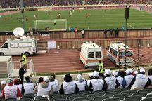 2 هوادار تیم فوتبال پرسپولیس راهی بیمارستان شدند
