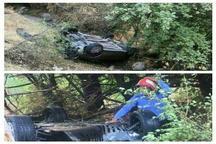 واژگونی خودرو پژو در پارک جنگلی مشگین شهر با سه مصدوم