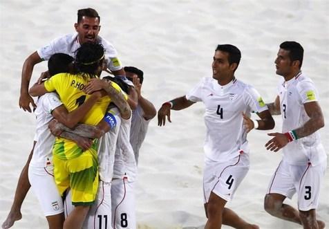 پیروزی تیم ملی فوتبال ساحلی مقابل اوکراین در بازیهای ساحلی جهانی