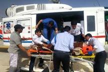 14 مجروح در تصادف زنجیره ای اتوبان قم-تهران