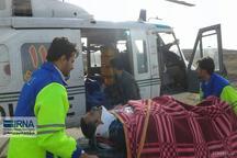 خدمات رسانی به پنج مصدوم حوادث رانندگی توسط اورژانس هوایی شاهرود