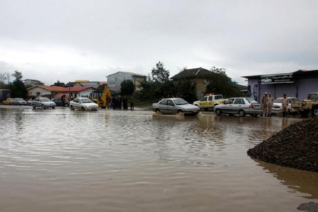سیلاب به تاسیسات زیربنایی  آستارا خسارت زد