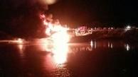 آتشسوزی انبار فرآوردههای نفتی در بندر شهید رجایی