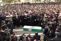 پیکر سید نورخدا موسوی شهید زنده لرستان به خاک سپرده شد